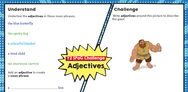 Preview image of Year 2 SPaG Challenge Mat: adjectives