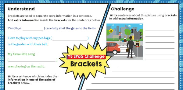 Preview image of Year 5 SPaG Challenge Mat: brackets