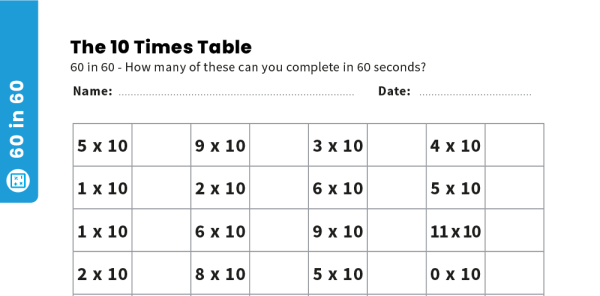 Preview image of 10 Times Table Teaching and Revision Pack