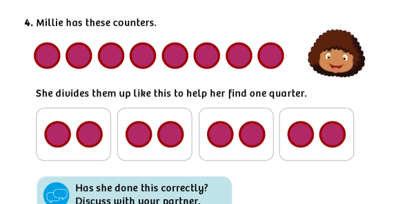 Preview image of White Rose Maths: Y1 Summer Term – Block 2: Find a quarter (2) maths worksheets