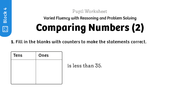 Preview image of White Rose Maths: Y1 Summer Term – Block 4: Comparing numbers (2) maths worksheets
