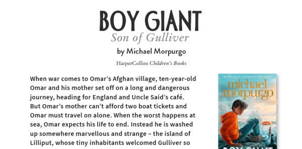 Preview image of Michael Morpurgo's Boy Giant – KS2 Book Topic Lesson with Activity Sheets